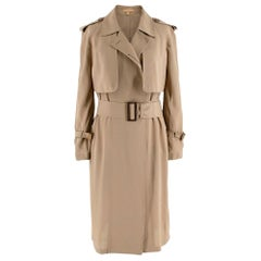 Michael Kors Tan Trench Duster Coat - Size US 0
