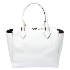 Michael Kors White Soft Leather Miranda Tote