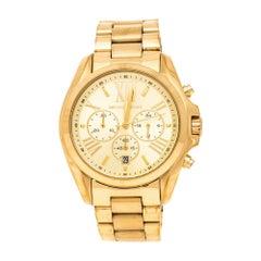 Michael Kors Yellow Gold Plated Stainless Steel Bradshaw MK5605 Men's Wristwatch