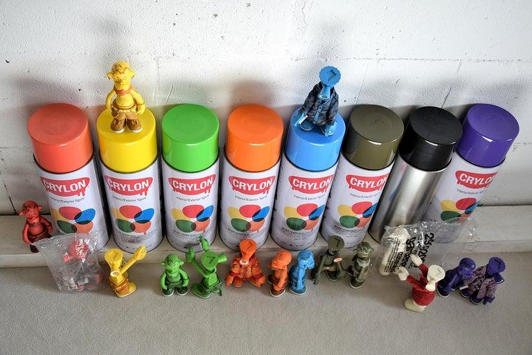 Michael Lau 2006 Rare 7 Years Gardener Designer Toy Set For Sale 1