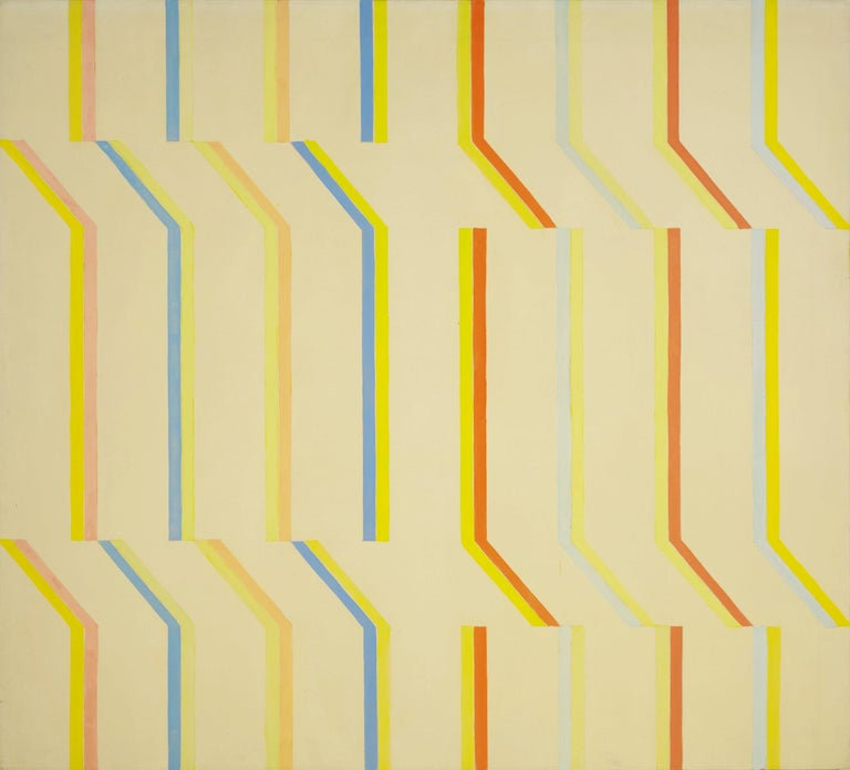 Michael Loew Abstract Painting - Yellow Aura, White Series #4
