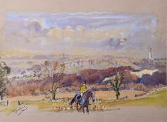 Michael Lyne (1912-1989) In the Berkeley Hunt Hill Country Kingscot Fox Hunting
