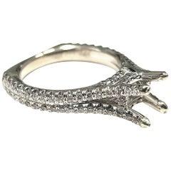 Michael M 18 Karat Semi Mounted Ring with 92 Melee Diamonds Weighing .73 Pts