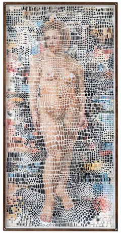 The Painted Muse Mixed Media Photography Archival Print Nude Pins In Stock