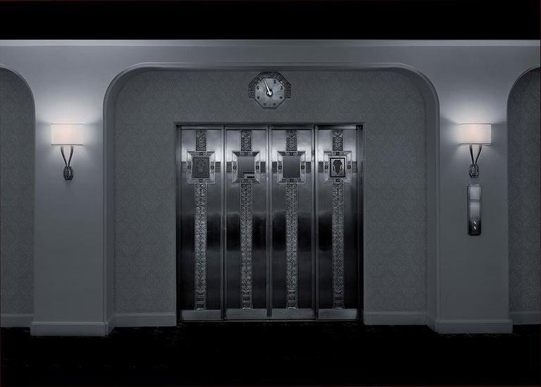 Michael Massaia Color Photograph - Coat Room Elevator