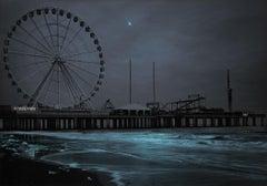 Steel Pier Moonrise, Atlantic City, NJ