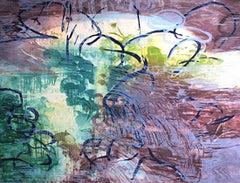 Pond Edge IV, Limited Edition Michael Mazur Woodblock Print