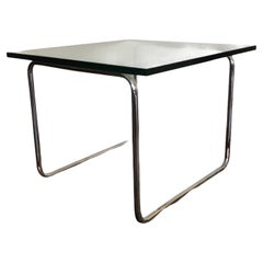 Michael McCarthy for Cassina Glass & Chrome Side Table