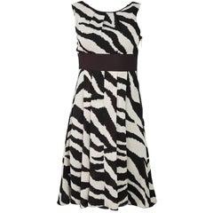 MICHAEL Michael Kors Brown & Beige  Silk Dress Sz 0
