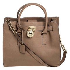 MICHAEL Michael Kors Brown Leather Large Hamilton North South Tote
