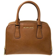 Michael Michael Kors Brown Leather Satchel