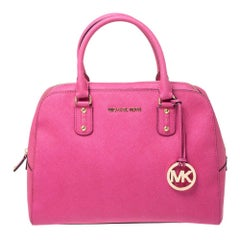 MICHAEL Michael Kors Fuchsia Leather Cindy Dome Satchel