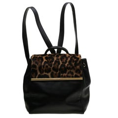 MICHAEL Michael Kors Leopard Print Calfhair and Leather Lana Backpack