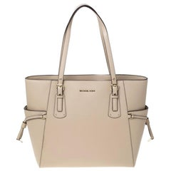 Michael Michael Kors Oat Leather Jet Set Voyager Tote