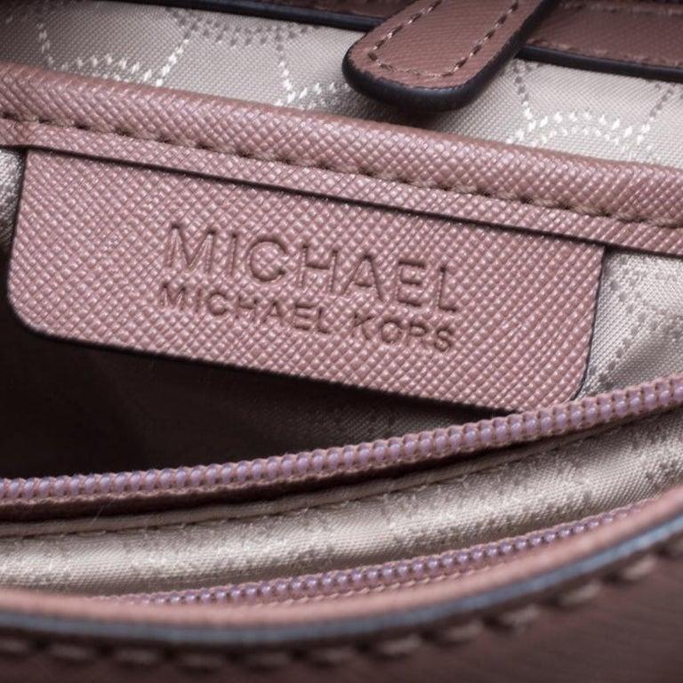 1ce09984a609 Women's Michael Michael Kors Pale Pink Leather East West Hamilton Top  Handle Bag For Sale