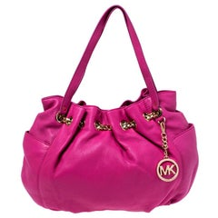 MICHAEL Michael Kors Pink Leather Chain Excess Shoulder Bag