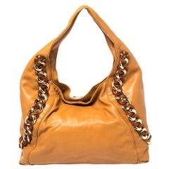 MICHAEL Michael Kors Tan Leather Large ID Chain Hobo