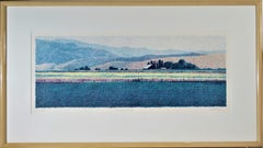 """""""Mountain Ranch"""" - Large color lithograph"""