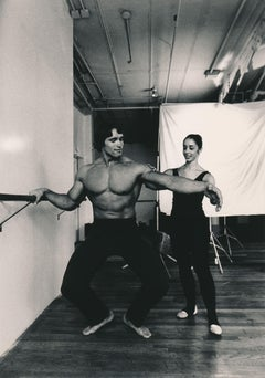 Arnold Schwarzenegger: Bodybuilding Ballerina Fine Art Print
