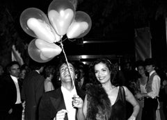 Bianca Jagger and Steve Rubell Holding Balloons at Studio 54 Fine Art Print