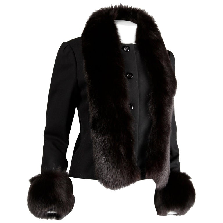 Michael Novarese Vintage Fox Fur Jacket, 1970s  For Sale