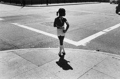 Girl on Street Corner, Chicago - 20th Century, Black and White Photography