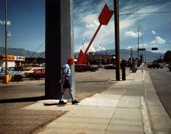 Man and Red Arrow, Albuquerque, New Mexico, 1986 - Michael Ormerod, USA, Travel