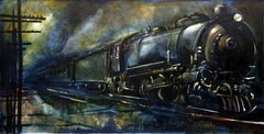 Locomotive, Monumental Painting by Paraskevas