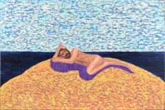 Artist's Dream IV - Napping on the Beach, Surreal Self-Portrait