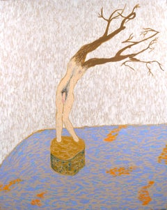 """Au Debut dele Printemps"" - ""Early Spring"" Surreal Figurative Tree Man"