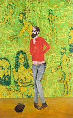 """""""Bonjour, Monsieur Pauker"""" - Figurative Surreal Self Portrait"""