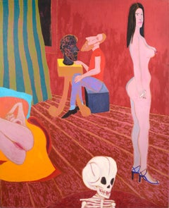 """""""The Red Studio"""" - Surreal Figurative Interior Scene"""