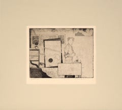 """""""State 2B"""" (Artist in the Studio) Etching 1974"""