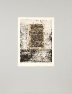The Monolith - Abstract Etching with Applied Paper