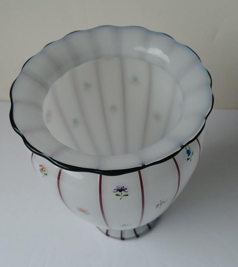 Austrian Michael Powolny for Loetz, Large Glass Vase, Hand Painted by Wilms, Art Nouveau For Sale