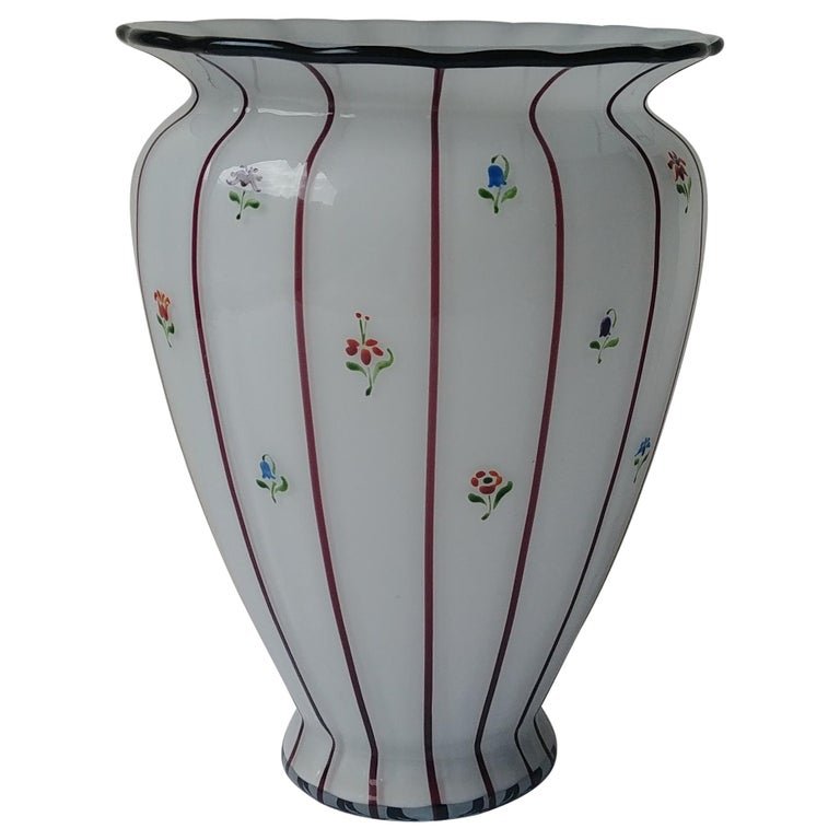 Michael Powolny for Loetz, Large Glass Vase, Hand Painted by Wilms, Art Nouveau For Sale