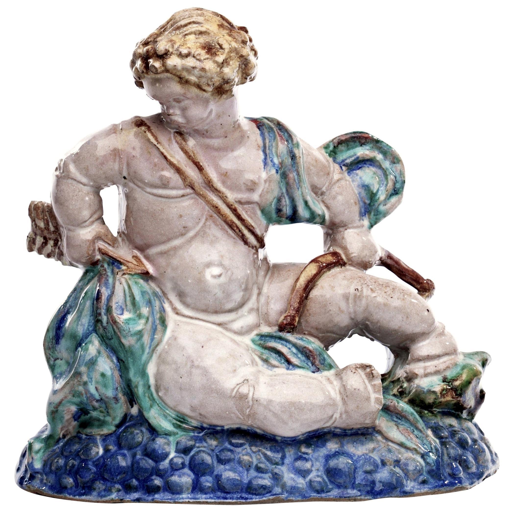Michael Powolny Style Putto or Putti Ceramic Sculpture