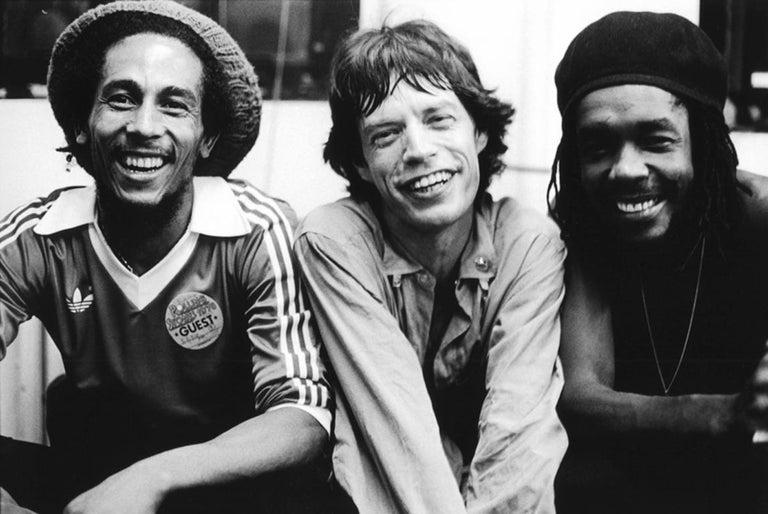 Michael Putland Black and White Photograph -  Bob, Mick and Pete, 1978 - Oversize Estate Edition