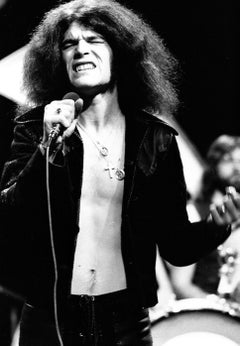 Dan McCafferty of Nazareth Singing Vintage Original Photograph