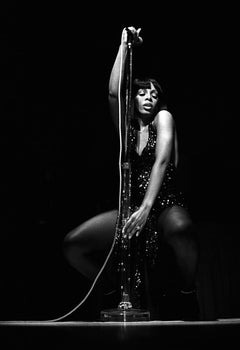 Donna Summer  - 20th century black and white music photography