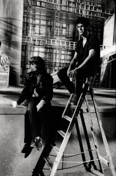 Keith Richards and Mick Jagger on a Ladder Vintage Original Photograph
