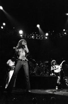 Led Zeppelin Rocking Out on Stage II Vintage Original Photograph