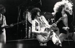 Led Zeppelin Rocking Out on Stage Vintage Original Photograph