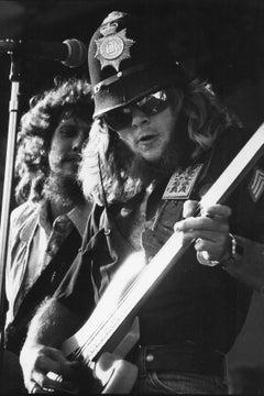 Lynyrd Skynyrd Onstage at Knebworth Festival Vintage Original Photograph