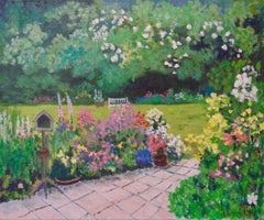 Eve's Garden - Early 21st Century Impressionist Landscape Acrylic by Quirke