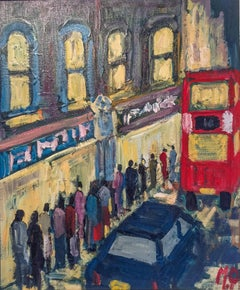 Late Night Shopping London abstract figurative Cityscape
