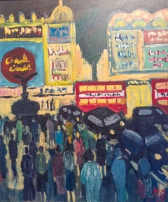 Michael Quirke Rush Hour London Abstract Figurative Landscape