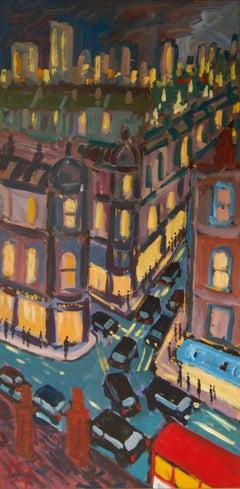 North Kensington - Late 20th Century Impressionist Acrylic Piece London - Quirke