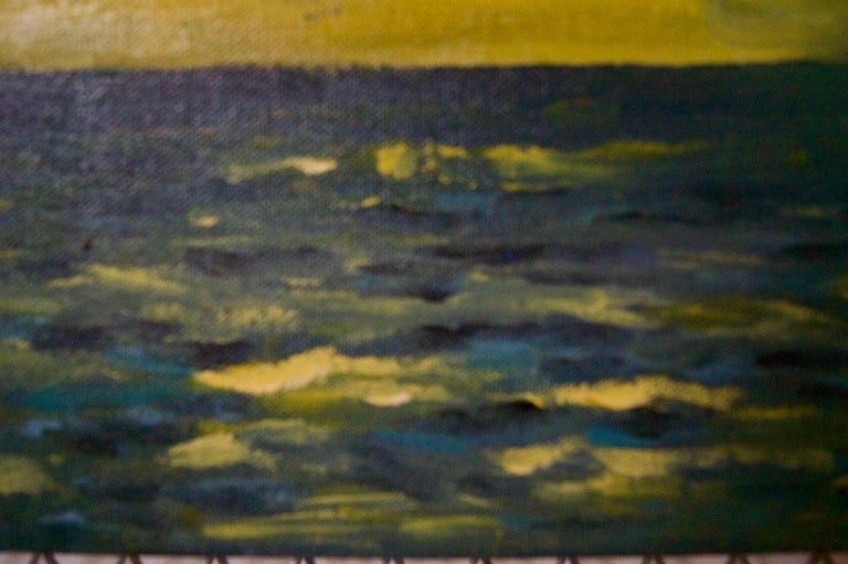 St Ives - Late 20th Century Impressionist Acrylic of Sunset on the Sea by Quirke - Post-Impressionist Painting by Michael Quirke