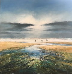 Michael Sanders, A Walk at Low Tide, Seascape Art, Affordable Art